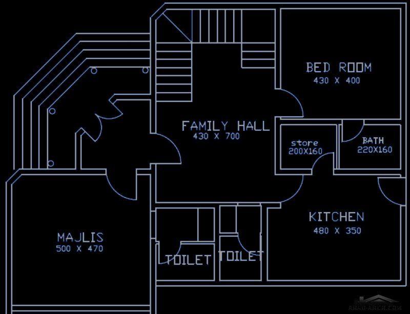 مخطط الفيلا صغيرة المساحه 4 غرف نوم ماستر House Plans How To Plan Design