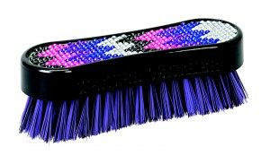 Lettia Collection Dandy Brush Pink and Purple Crystal Leopard Design