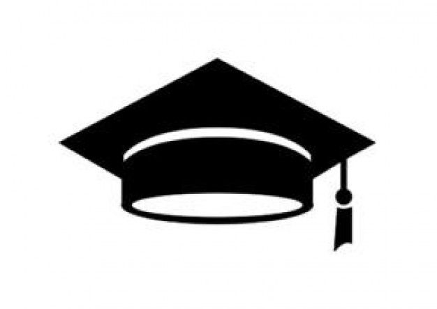 Photo of graduation hat in solid black – Icon