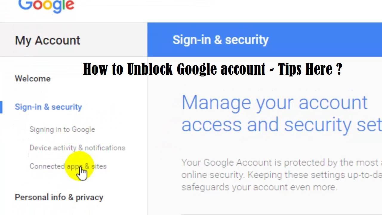 How Can I Unblock My Google Account My Google Account Google Account Accounting
