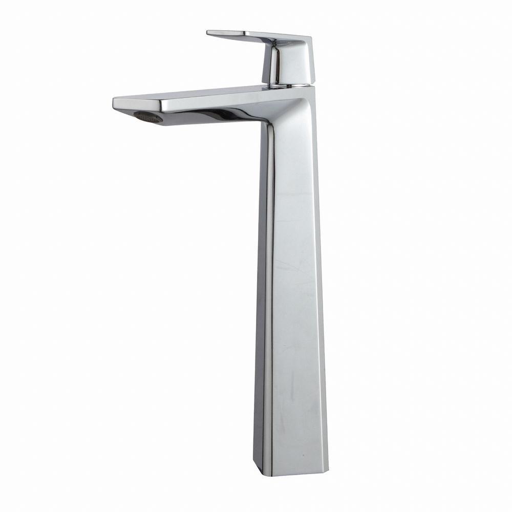 KRAUS Aplos Single Hole Single-Handle High-Arc Vessel Bathroom ...