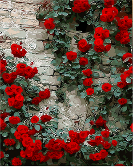 Wall Of Red Roses Aes Red Wine Pinterest Red Aesthetic