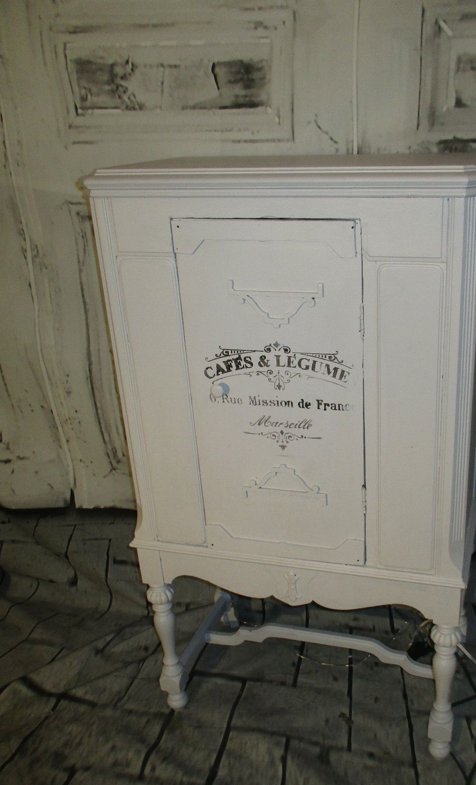 Repurposed 1920 S Radio Buffet Jelly Cupboard Cabinet Wine