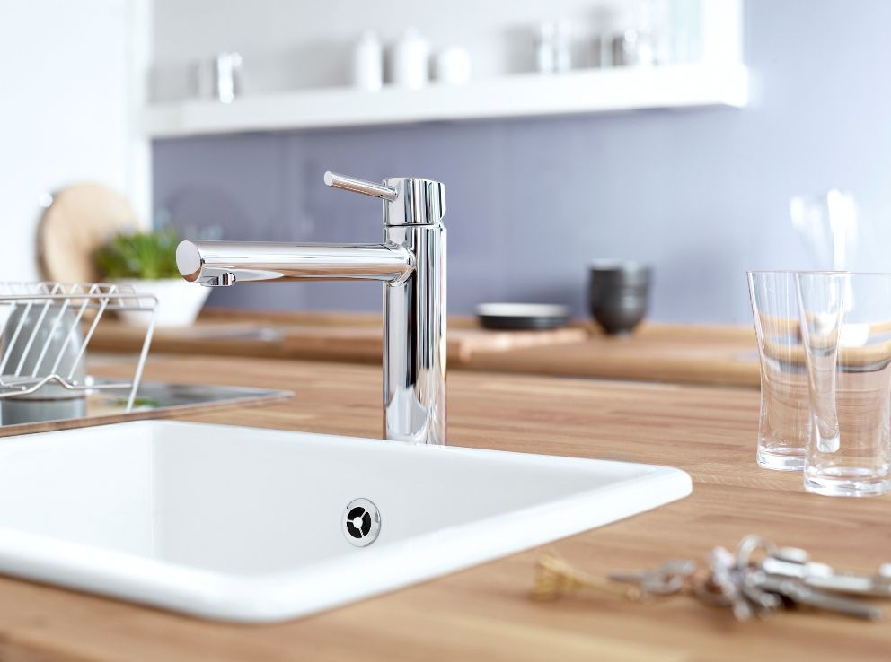 Grohe Concetto -hana on modernin keittiön kruunu. - Grohe Concetto faucet tops off the contemporary kitchen