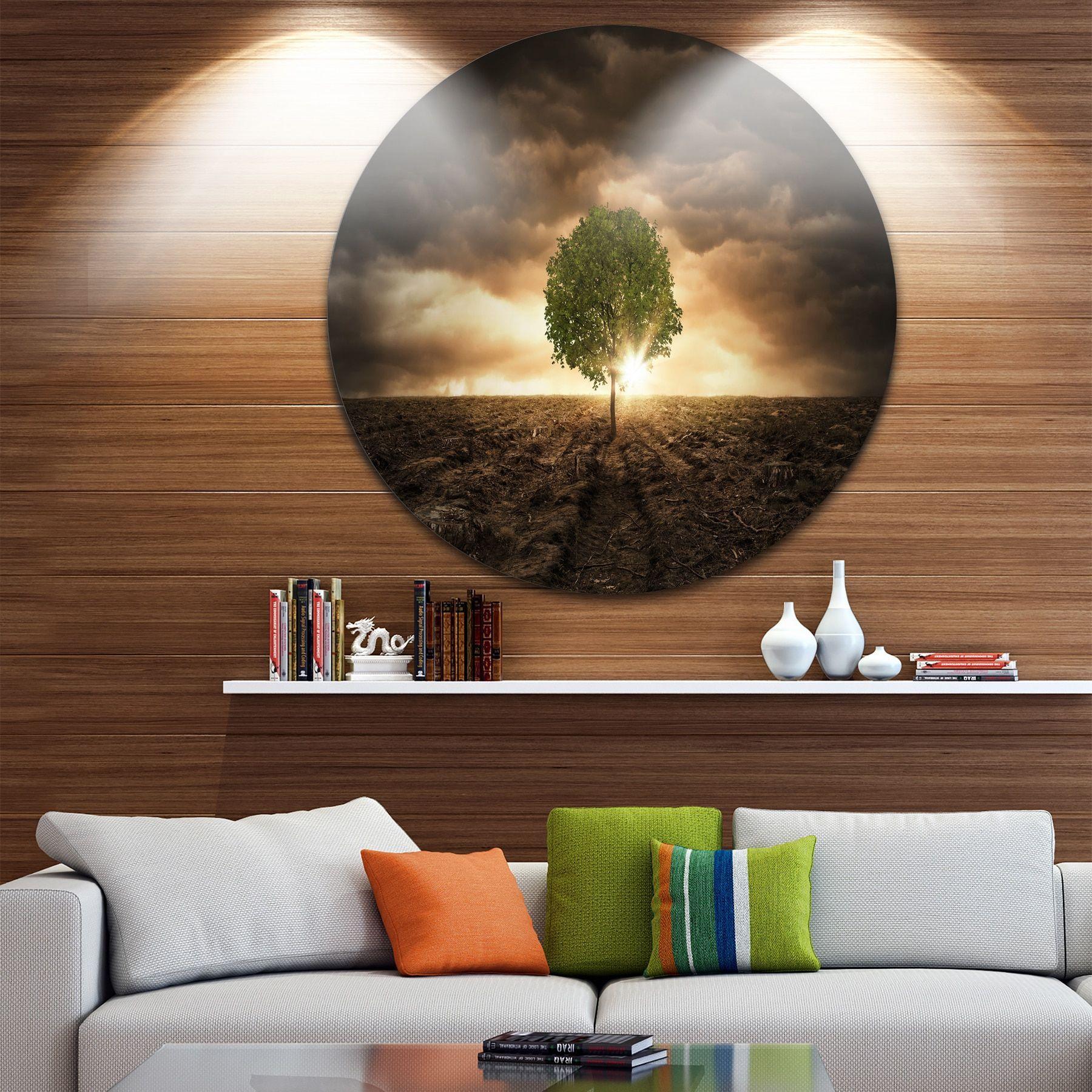 DESIGN ART Designart u0027Lonely Tree under Dramatic