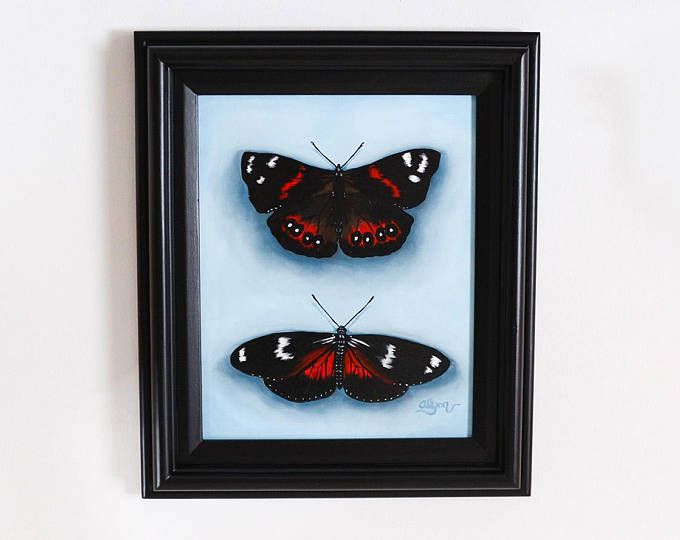 "Butterfly Oil Painting ""Red Butterflies"" 