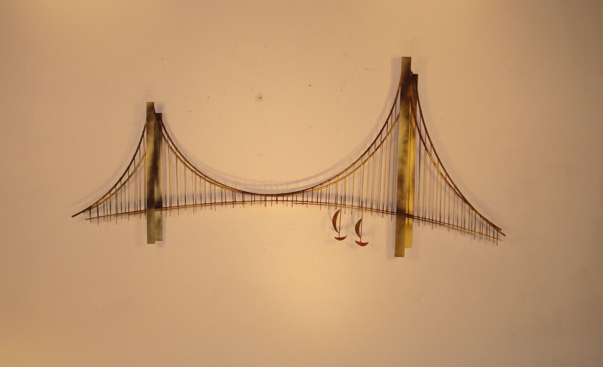 Suspension (Bridge)\' Metal wall sculpture | metal sculptures ...