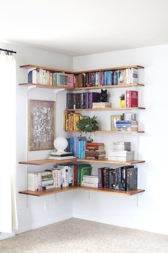 projects idea of corner wall shelving. DIY Projects That You Can Apply To Design Your Small Spaces