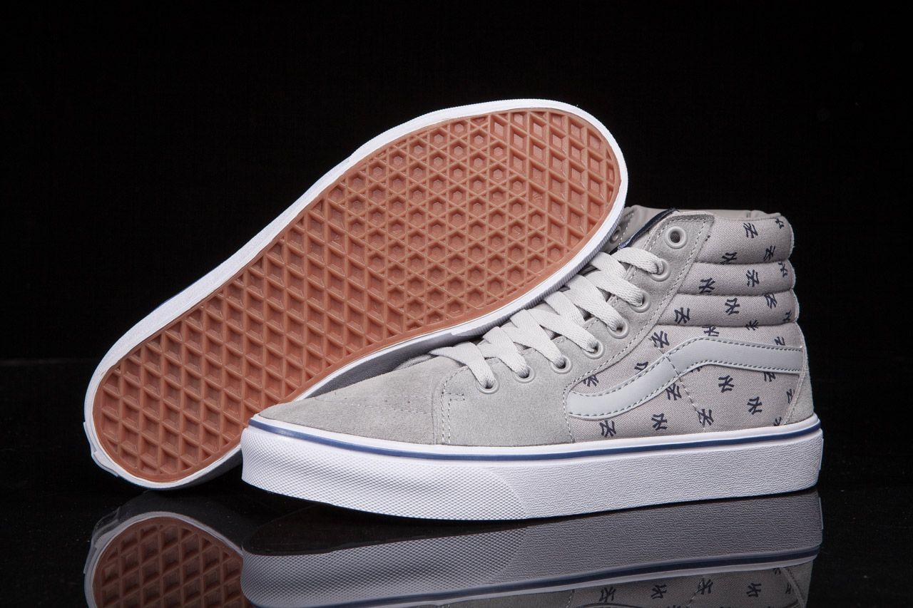 Vans x MLB New York SK8 Grey High Skate Shoes For Sale  Vans  26cc7cf24