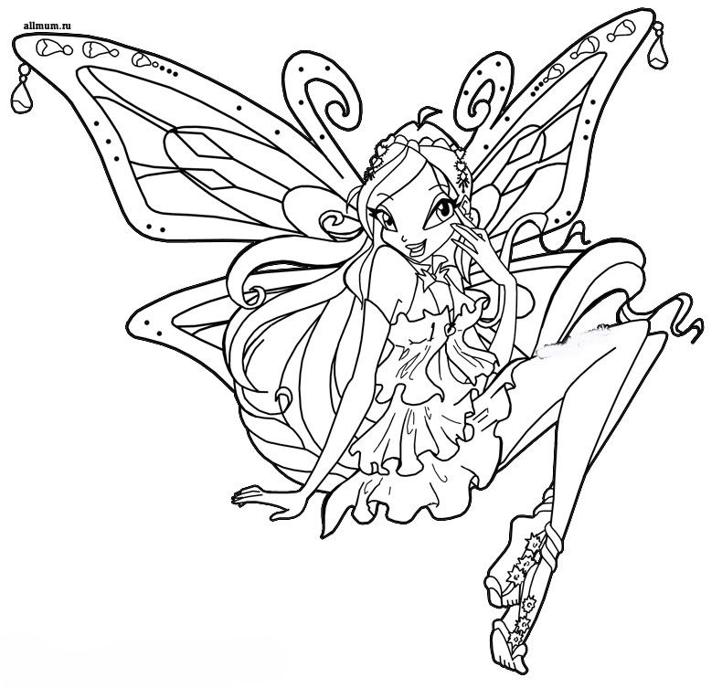 Kleurplaten Winx Enchantix.Pin Pin Winx Club Dibujos Tattoo Pictures To On Pinterest Coloring
