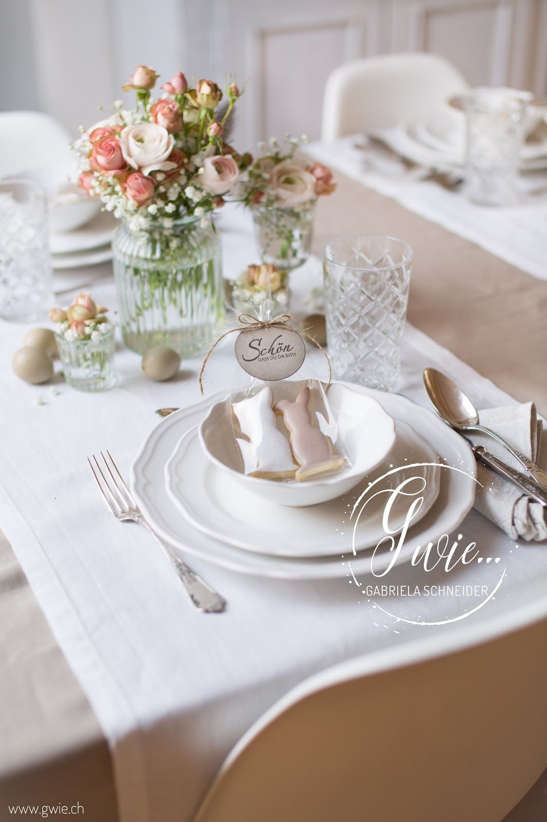 Tisch Gedeckt Tischdeko Tisch Eindecken Ostern