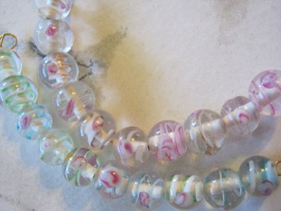 Lampwork Round Glass Beads by janissupplies on Etsy, $8.50  Perfect for Easter jewelry making!