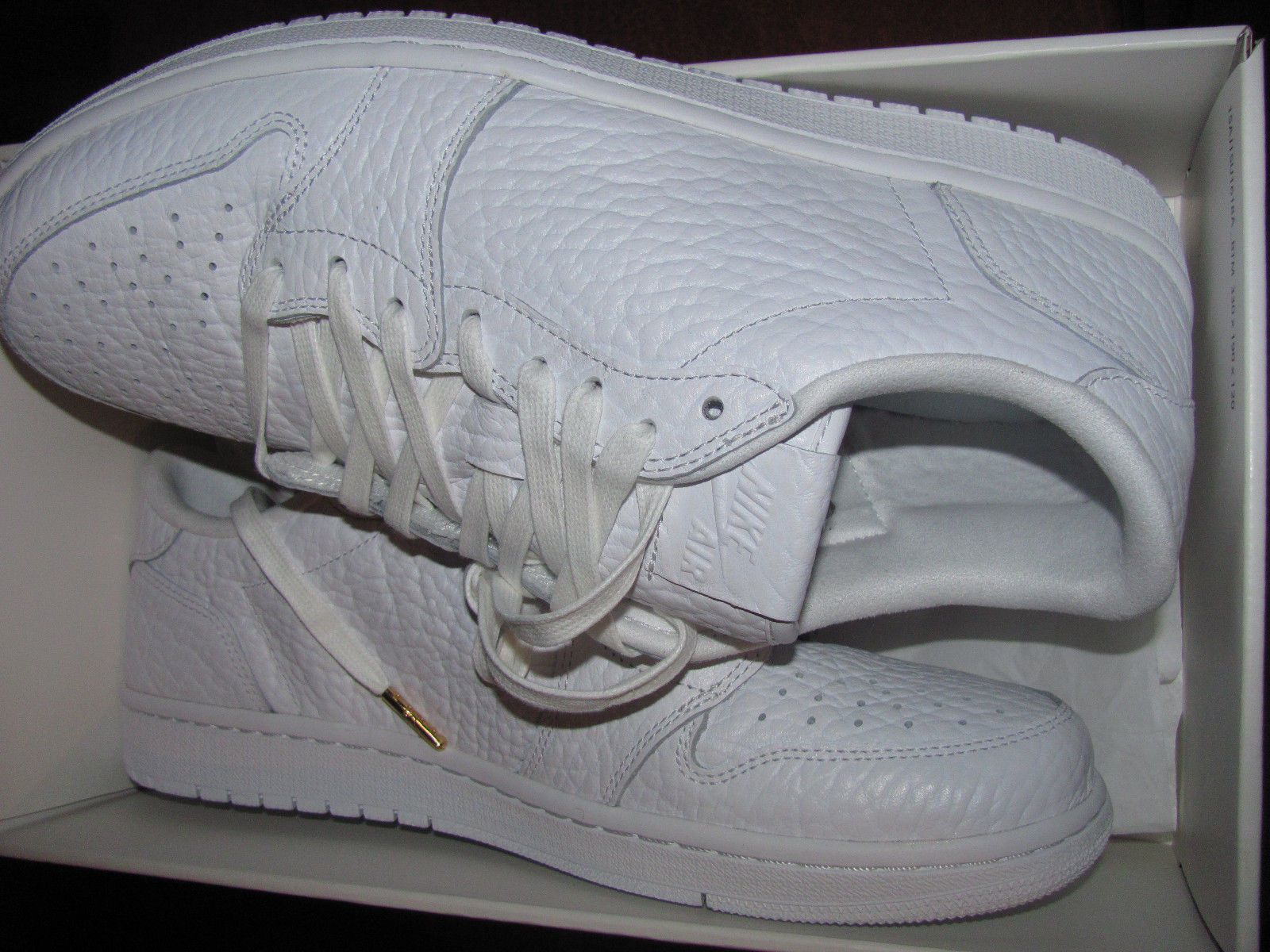 ad68b6d67e5c44 Nike Air Jordan 1 Retro Low NS No Swoosh Men Size 11 triple white 872782-100  i v
