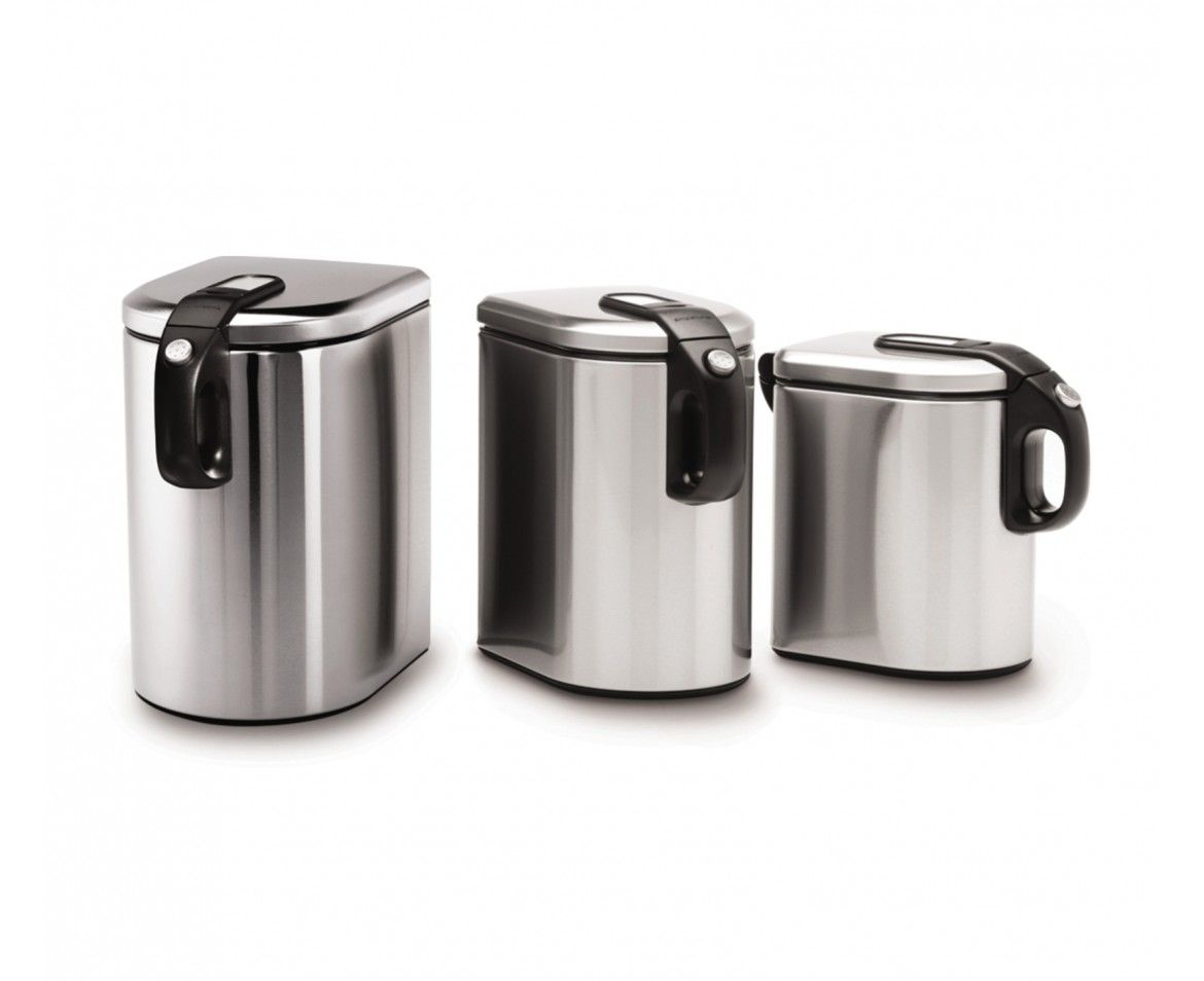 Simplehuman Slim Brushed Steel Canister Set Like Ideas For The