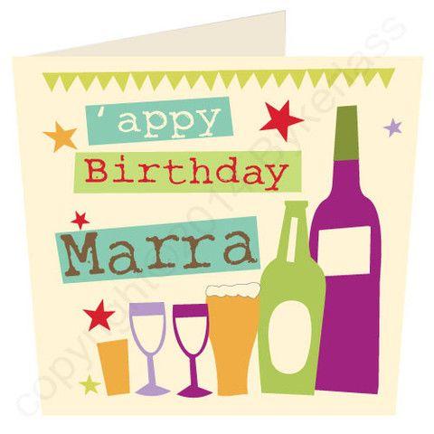 Appy Birthday Marra Cumbrian Birthday Card Wf18 Birthday