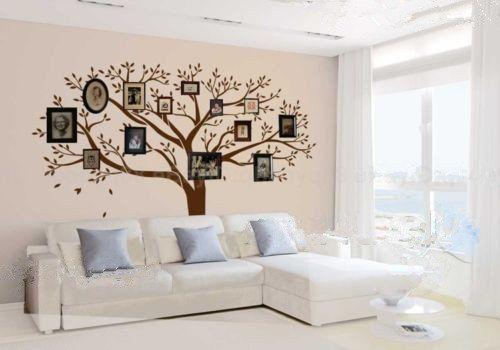 luckkyy® géant famille Arbre Photo Cadres photo mural un mur Sticker