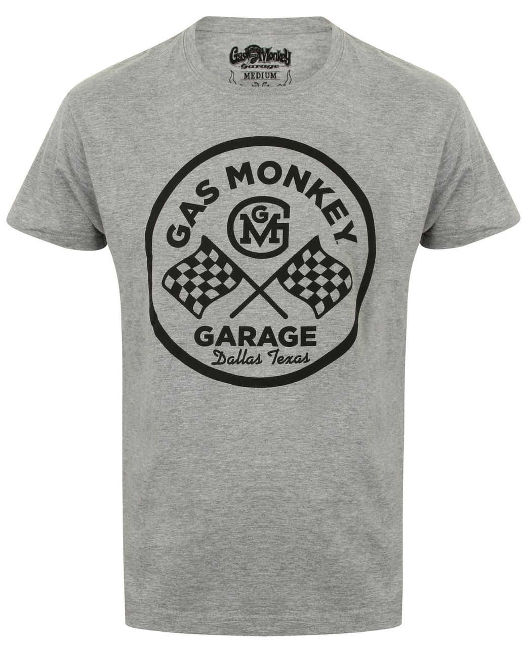 Gas Monkey Garage Officially Licensed Most Badass Hot Rod Shop T-Shirt Maglia Maglietta GMG