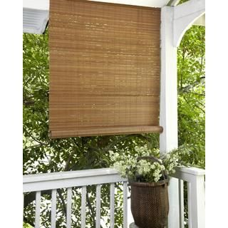 Elegant Fruitwood Brown Outdoor Roll Up Patio Shade | Overstock.com Shopping    Great Deals On