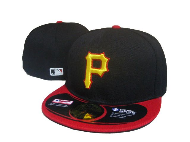 more photos ea1e3 8ab1f New Era Hat MLB Cap FITTED Pittsburgh Pirates Black Red