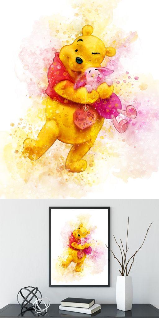 Winnie The Pooh Print Watercolor Winnie The Pooh Wall