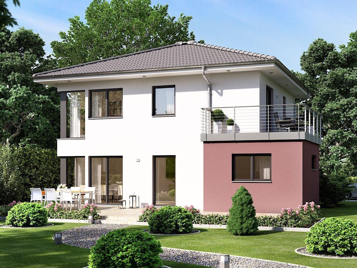 Modernes Haus mit Walmdach Architektur, Erker & Balkon