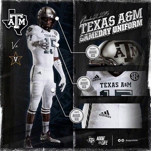Texas A M Whiteout Aggie Ice Texas A M Football Uniforms Darth Vader