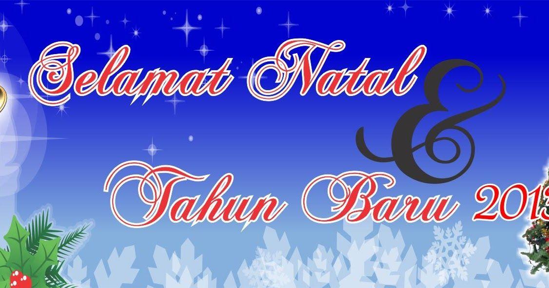 Spanduk Natal Dan Tahun Baru Free Download Desain Neon Signs Natal Neon