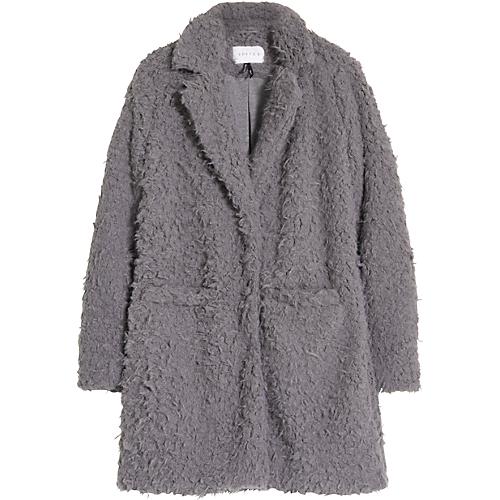 Jas, Teddy Coat Costes Jassen, Winter stijl en Grijs