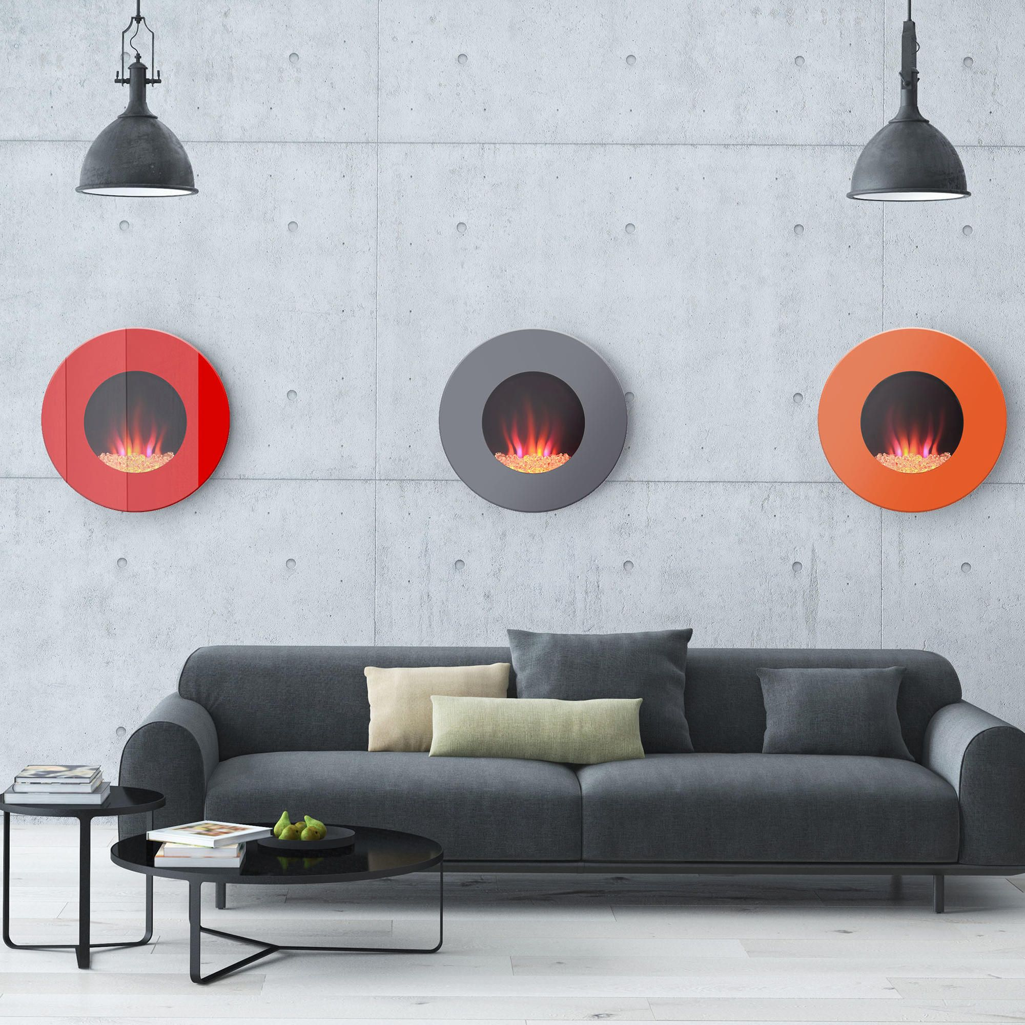 round wall mounted electric fireplace modular walls wall mount
