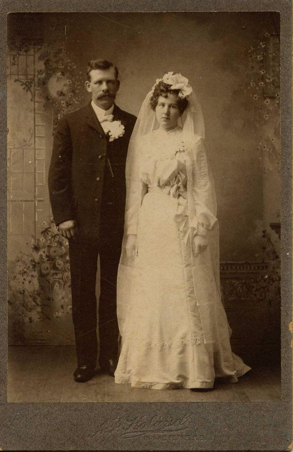 Antique Wedding Photograph 1800's | Weddings | Vintage ...