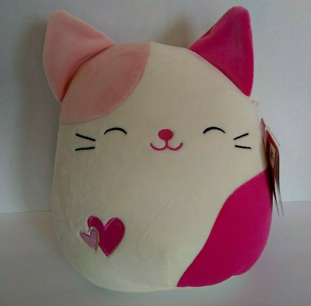 """Squishmallow Cat 8"""" Pink Plush Cat Soft Kellytoy Squishmallows New With Tags"""