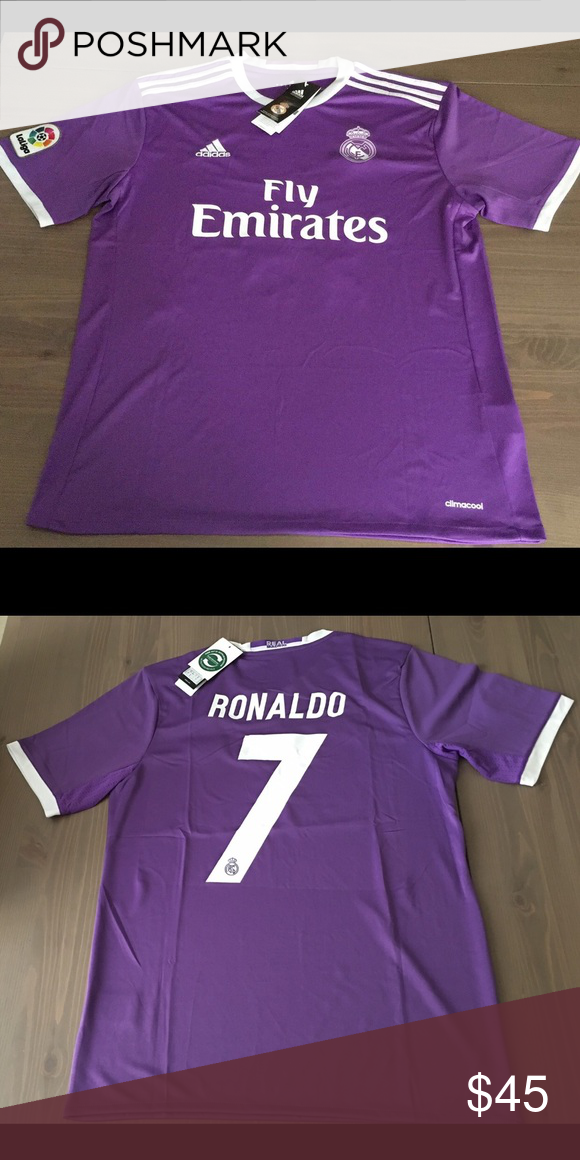 competitive price ae06a 7b53f Real Madrid 16/17 purple Ronaldo #7 men soccer Real Madrid ...