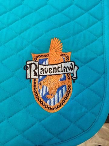 Harry Potter Ravenclaw House Crest Embroidered Saddle Pad Horses