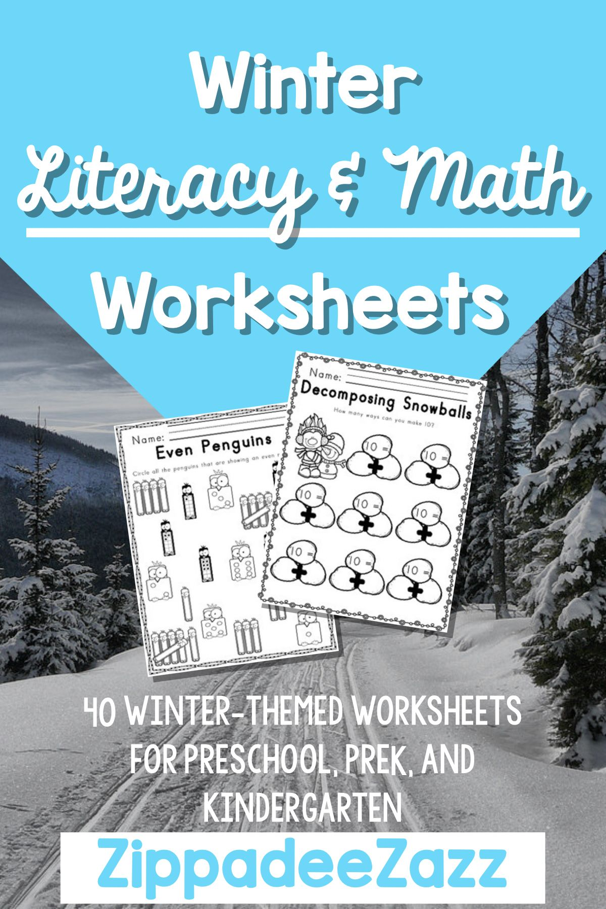 Worksheets For Winter Ela Literacy And Math Activities
