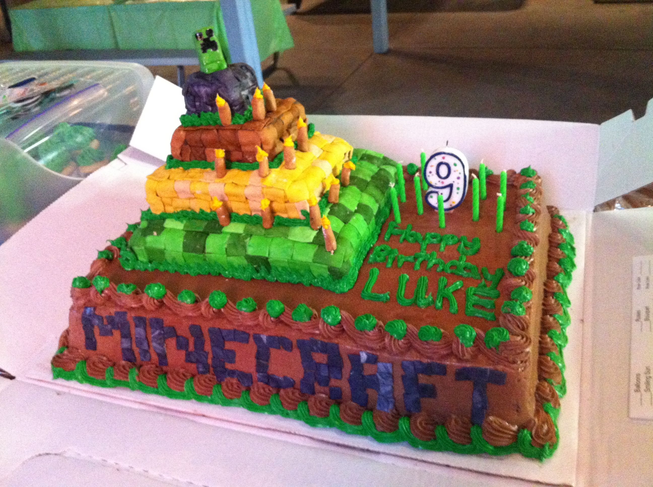Minecraft Birthday Cake Baked Good Heaven Pinterest Minecraft