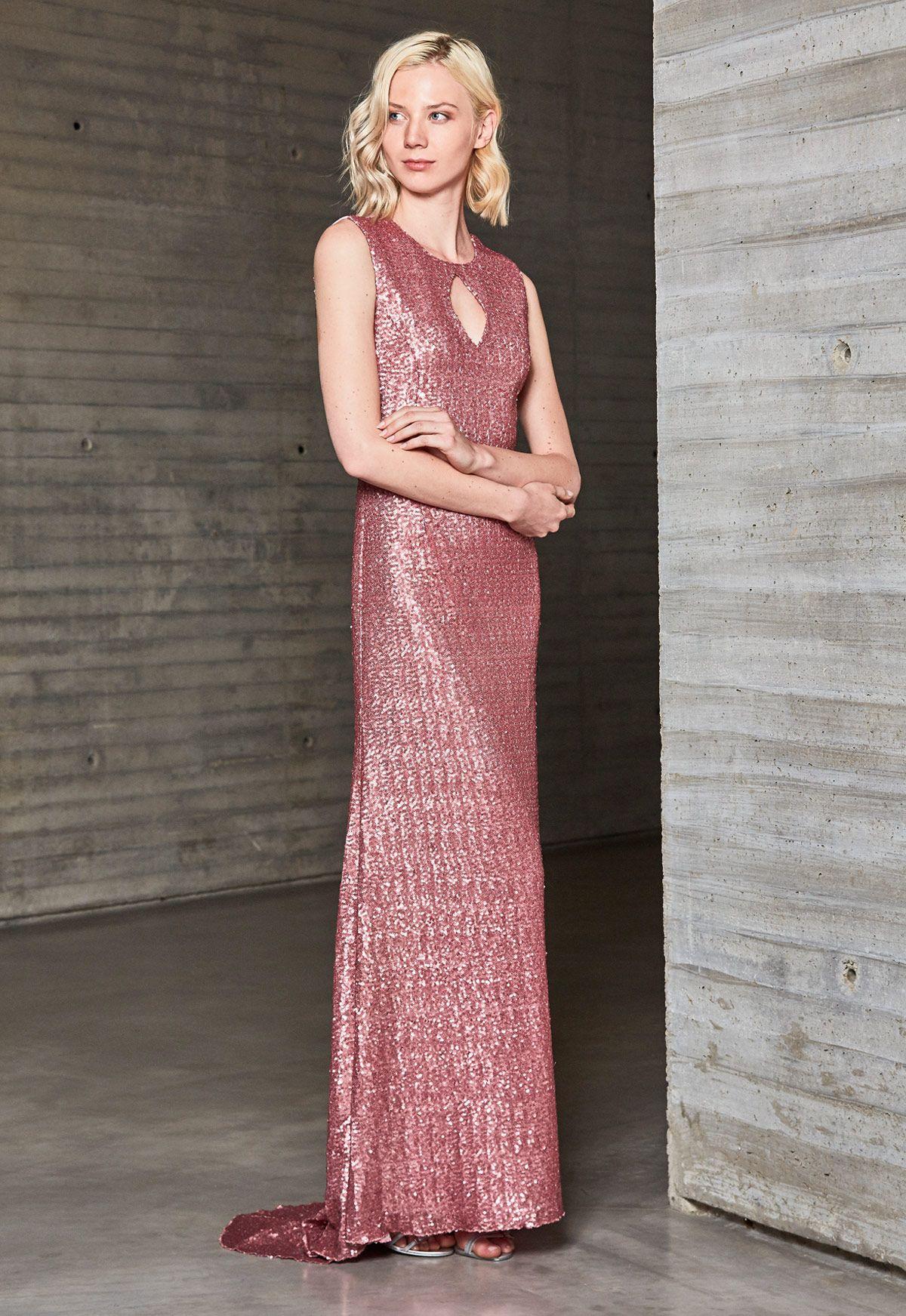 Vestido de fiesta Ana Torres colección 2018 Modelo 18103A. Eva ...