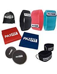 PAZFIT Set Bandas de Resistencia - Kit de Fitness Completo  Bandas Elásticas Discos deslizantes Tobi...