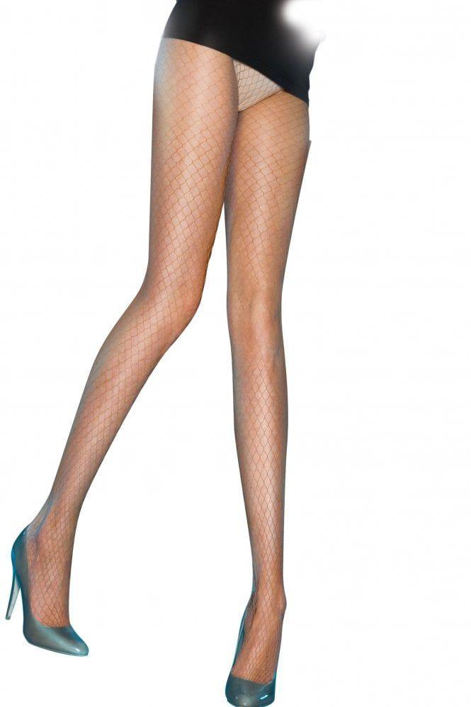 Leg Avenue Sheer Seamed Stockings - Black White Red Nude