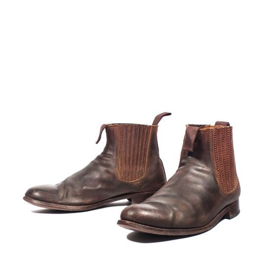 55d4642c14bf Vintage Spanish Chelsea Boots Brown Leather Andalusier Ankle Boots ...