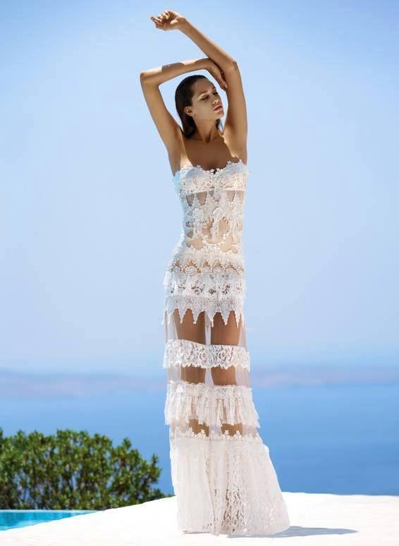 ad1d26ea18bf CINEMA BY PANOS ZINAS 2014 Λευκά Νυφικά Φορέματα