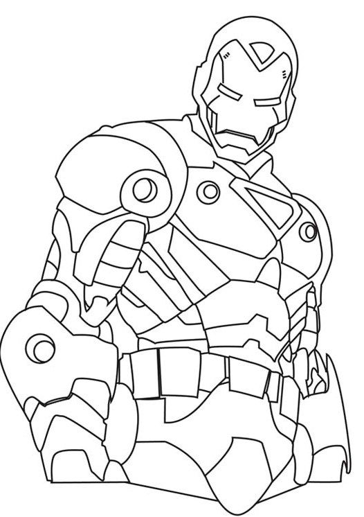 I Have Download Iron Man Who Has A Stout Body Shape Coloring For Kids Superhero Coloring Unicorn Coloring Pages Superhero Coloring Pages