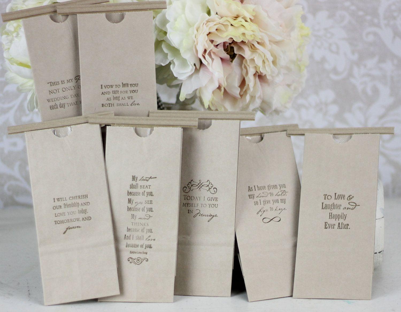 Wedding Favor Bags Kraft Paper Candy Cookies Popcorn Coffee Dessert