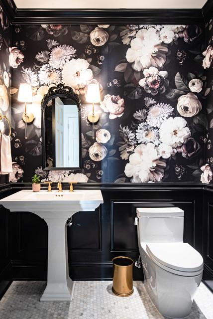 Powder Room Palettes 10 Beauties In Black In 2020 Modern Powder Rooms Powder Room Ideas Elegant Powder Room Design