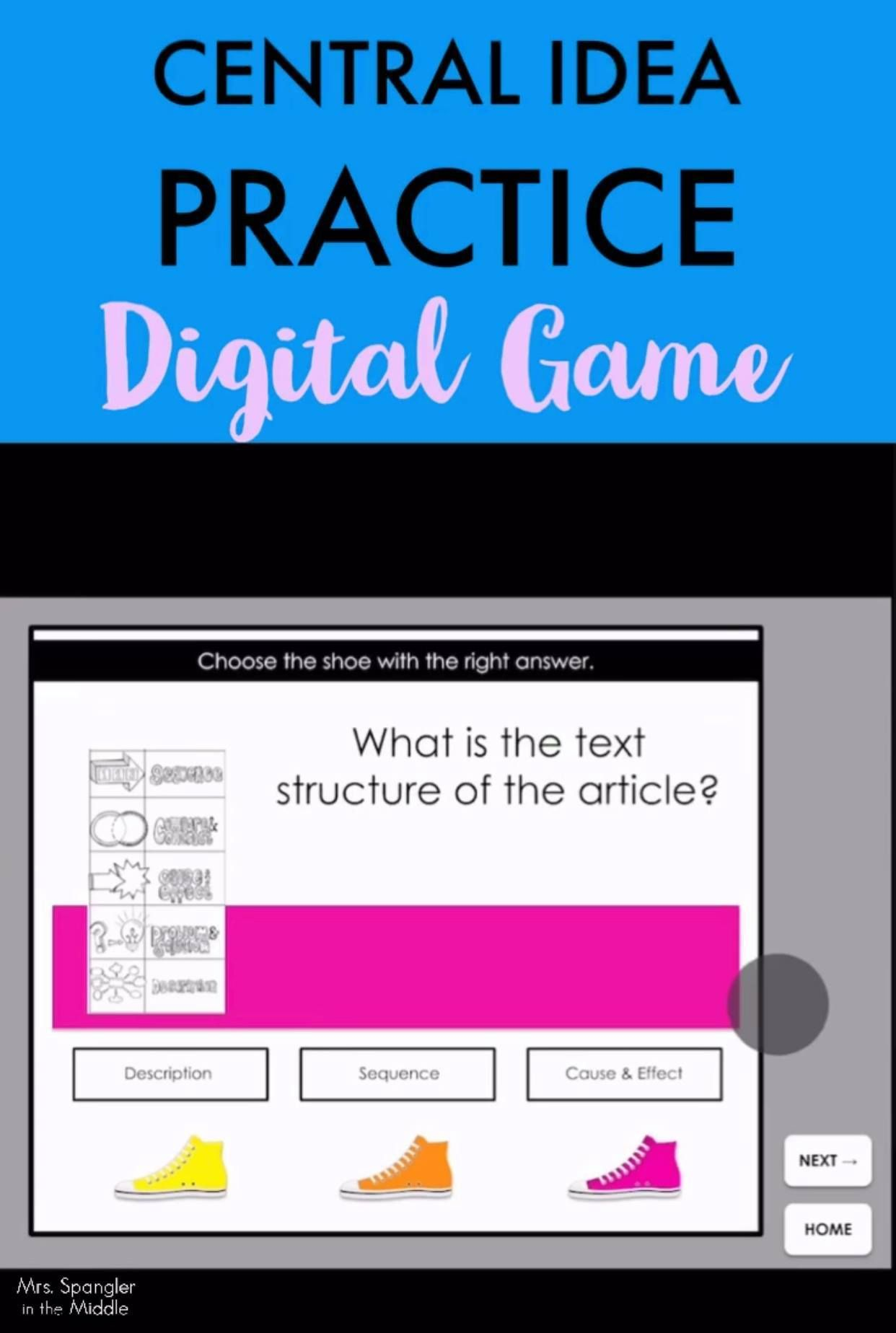 Central Idea Digital Practice Game Distance Learning In