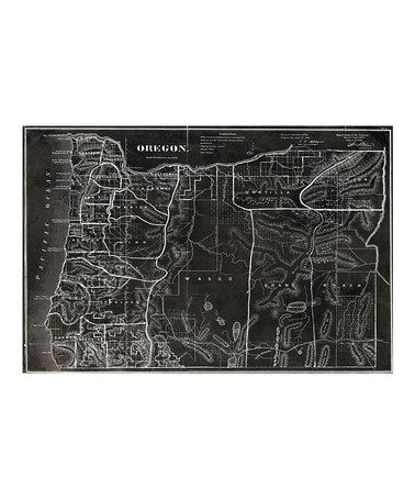 Map of Oregon 1866 Wall Art Print by Oliver Gal