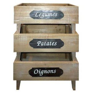 Rustic Vegetable Produce Rack   Potatoes , Onions , Fruit   French Wooden  Stand   Ideal