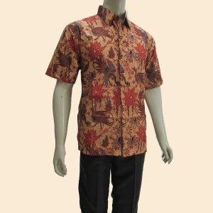 koleksi terbaru yang moderen model baju batik murah pria lengan pendek yang  dibuat dari jensi bahan 5b4454fb7e