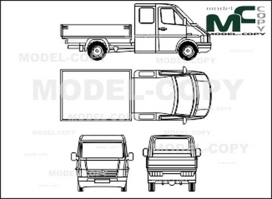 Volkswagen LT 28/35 bunk wagon double cabin, wheelbase