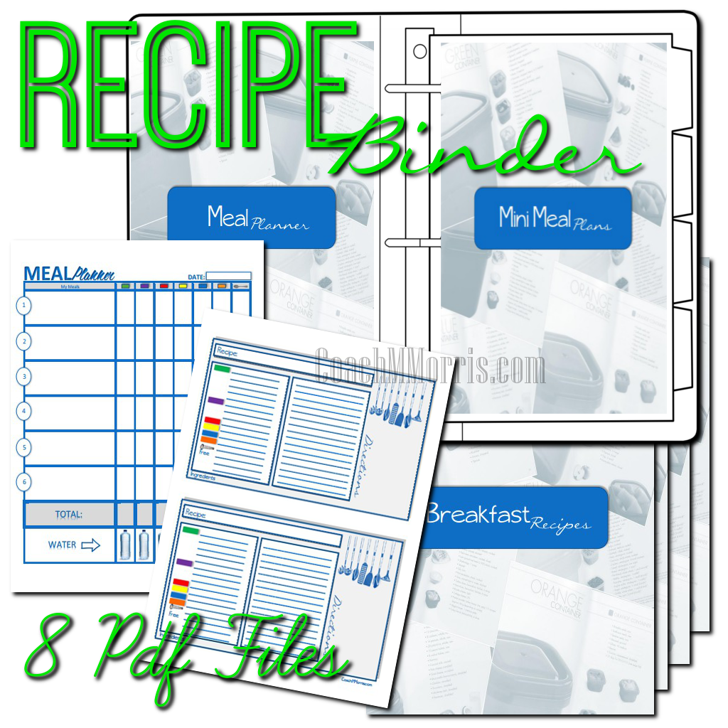 21 Day Fix Meal Plan Planner Meal Tracker Worksheets
