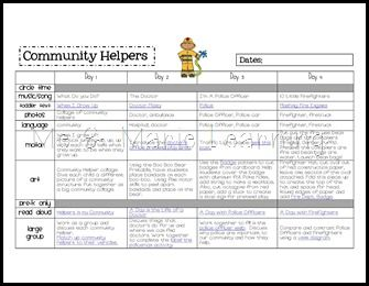 police officer lesson plans for preschool community helpers freebie lesson plan amp activity pages 262